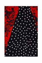 Load image into Gallery viewer, Tri Collar Silk Dress - Red Floral