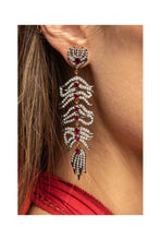 Load image into Gallery viewer, Diamond & Ruby Feather Earrings