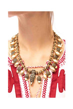Load image into Gallery viewer, Gold Acorn Tribal Necklace