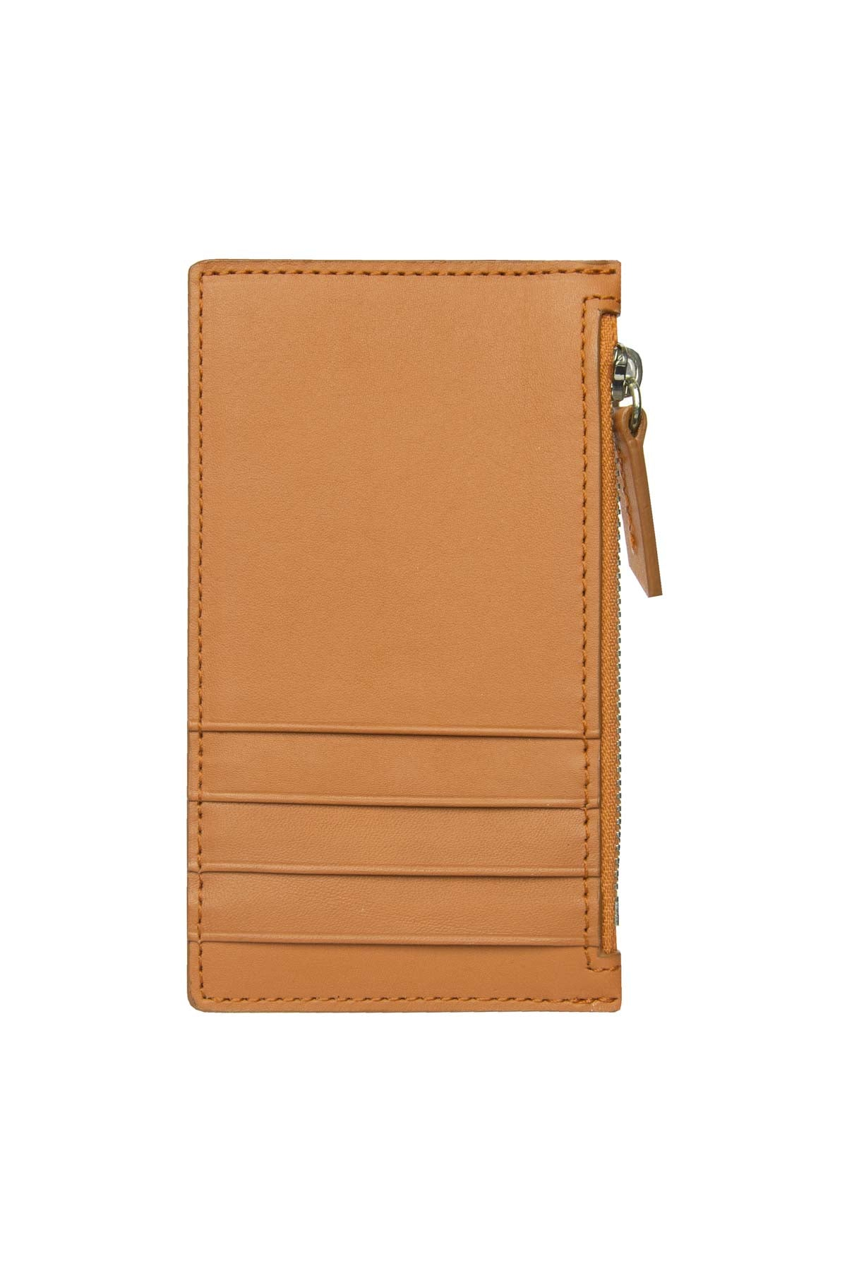 Leather Zip Card Holder - Natural