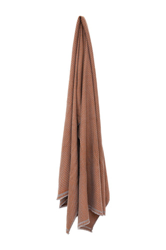 Nepalese Zig Zag Scarf - Burnt Orange