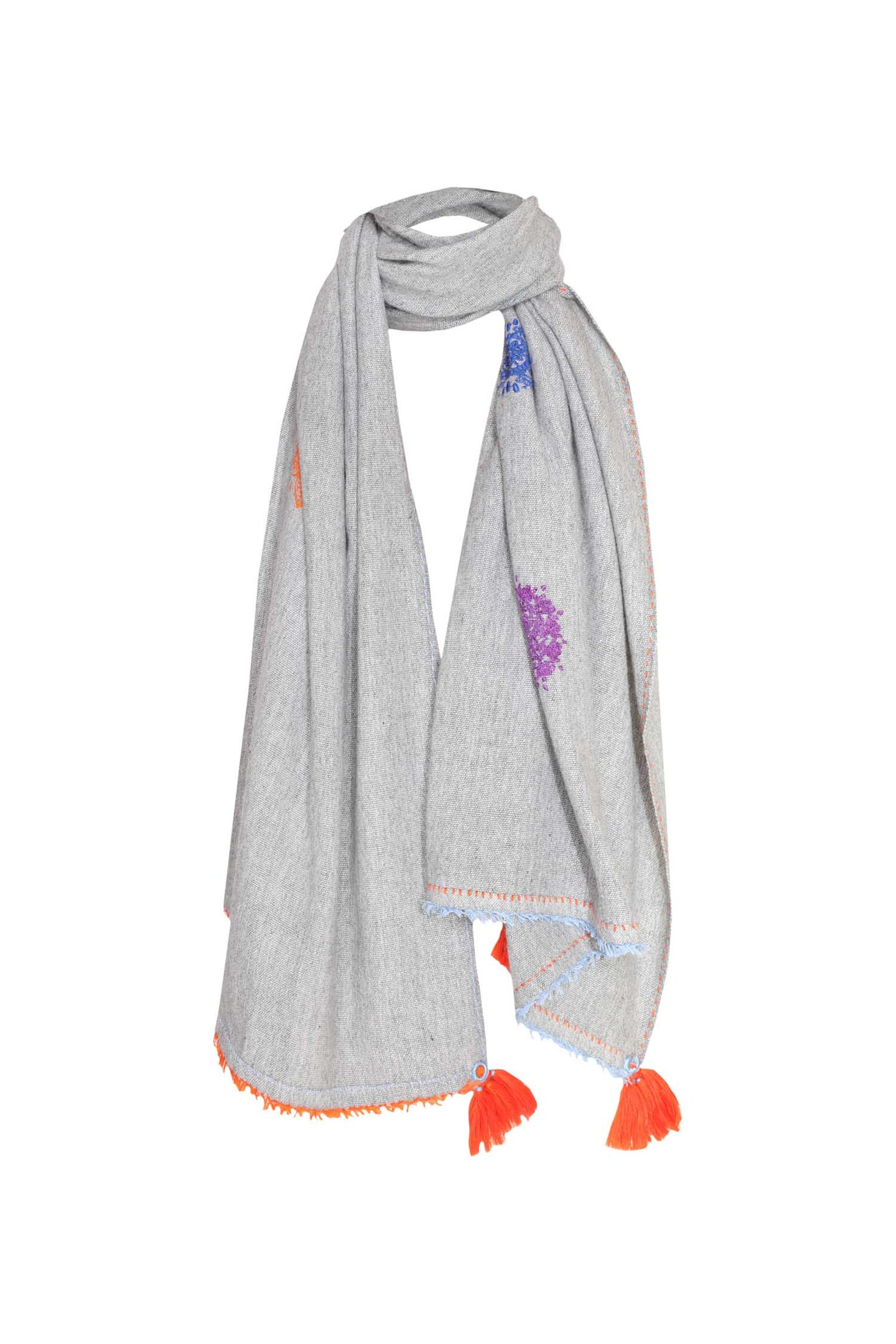 Chakra Shawl - Light Grey