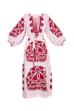 Load image into Gallery viewer, Shalimar Dress - Pink & Dark Red
