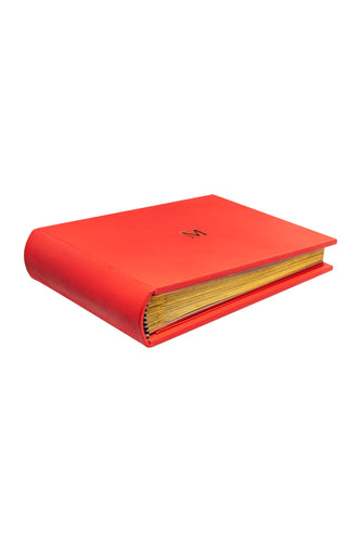 Leather Photo Album - Coral