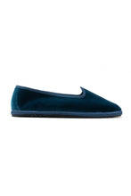 Load image into Gallery viewer, Venetian Velvet Slippers - Denim Blue