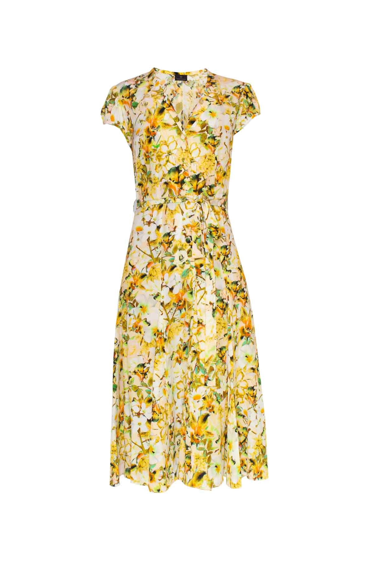 Silk Bugesha Dress - Yellow Orchid