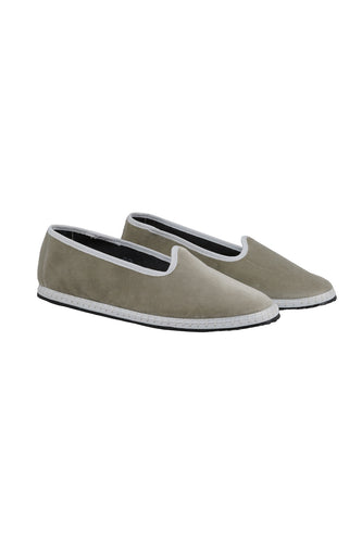 Venetian Velvet Slippers - Grey
