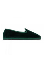 Load image into Gallery viewer, Venetian Velvet Slippers - Dark Green
