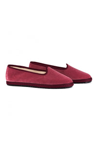 Venetian Velvet Slippers - Dusty Pink