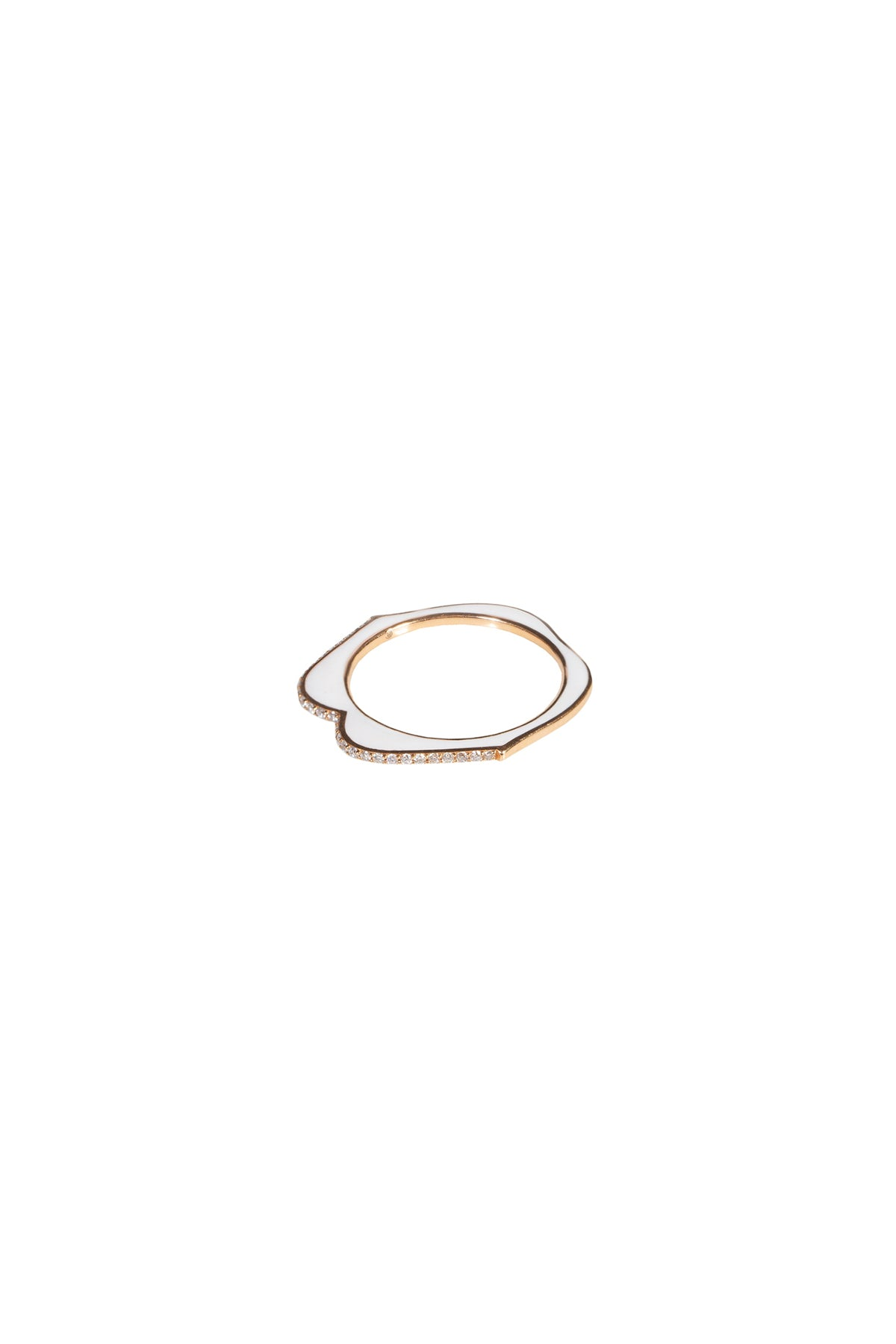 OMG Enamel Lip Ring - White
