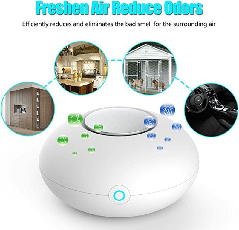 Mini Ozone Generator Deodorizer Air Purifier USB Rechargeable fridge Purifier Portable air Small Space Clear Odor-BUYALL20