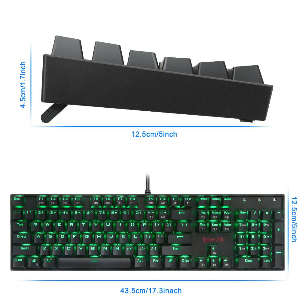 Redragon USB mechanical gaming keyboard ergonomic RGB LED backlit keys Full key anti-ghosting 104 wired Computer gamer K551RGB-BUYALL20
