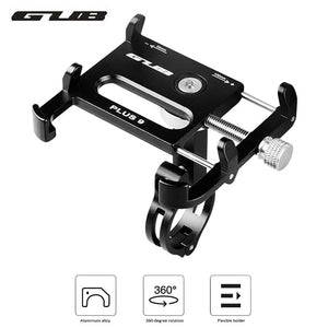 GUB PLUS 9 Aluminum Alloy Universal 360 Degree Rotatable Cell Phone Holder Bicycle Mount Handlebar for for 3.5-6.2in Phones-BUYALL20