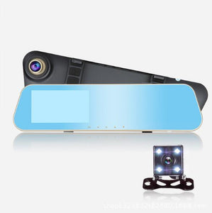 Full HD 1080P Car Dvr Camera Auto 4.3 Inch Rearview Mirror Digital Video Recorder Dual Lens Registratory Camcorder-BUYALL20