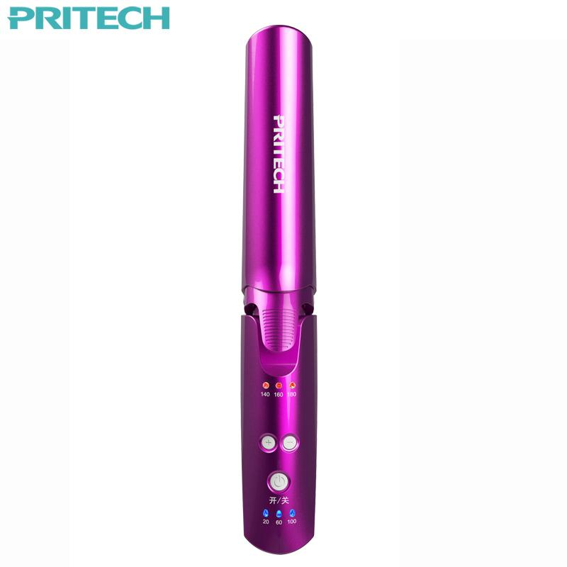 Pritech Portable USB Rechargeable Curling Irons For Women Wireless Cordless 2 In 1 Hair Straightener-BUYALL20