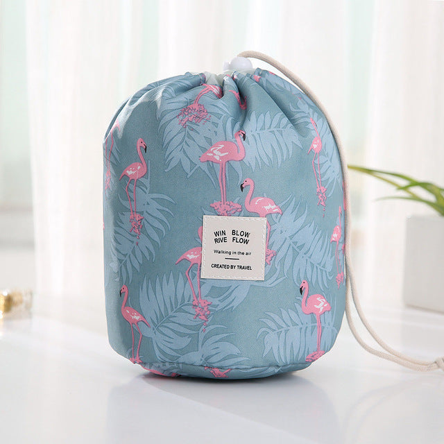 Round women makeup bag travel make up organizer Cosmetic bag female storage toiletry kit case-BUYALL20