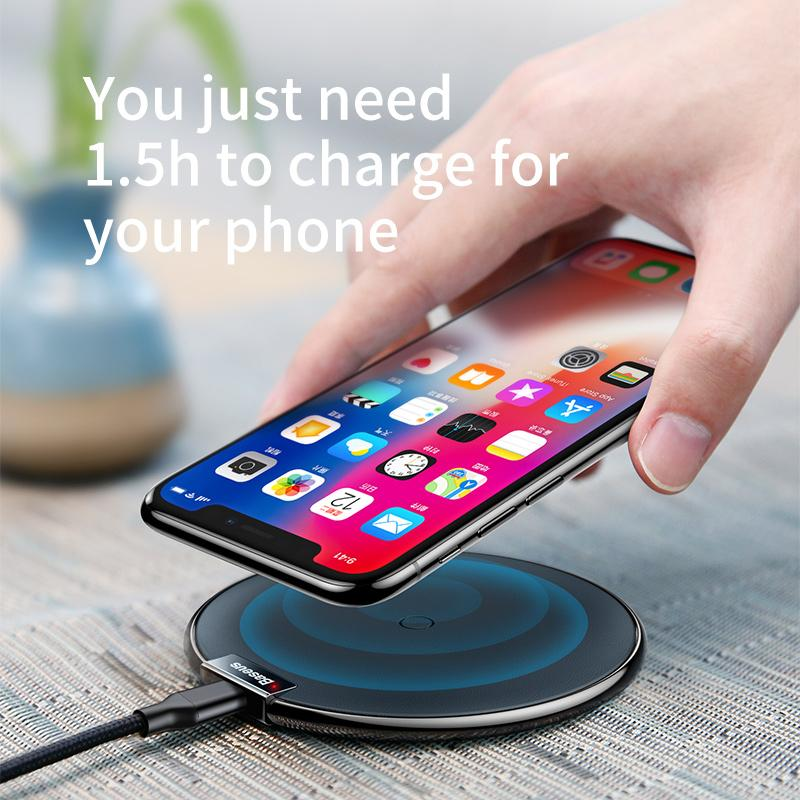 Baseus Qi Wireless Charger Pad For iPhone 8 X Samsung Note 8 Fast Charging Mobile Phone Desktop Wireless Charging-BUYALL20