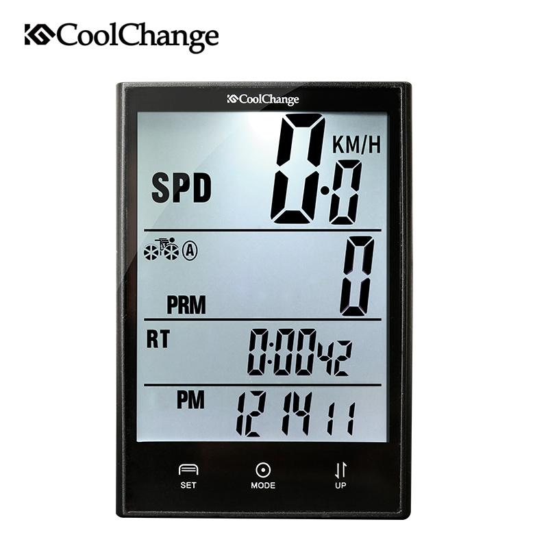 CoolChange Wireless Bike Computer Speedometer Odometer Rainproof Cycling Bicycle Measurable Temperature Stopwatch-BUYALL20