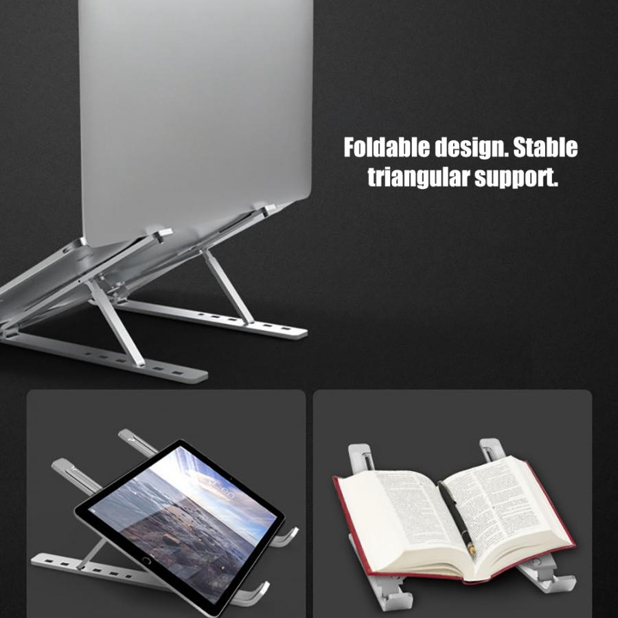 N3 Adjustable Laptop Bracket Holder Stand Computer Notebook Stand with Silicone Non-slip Pad-BUYALL20