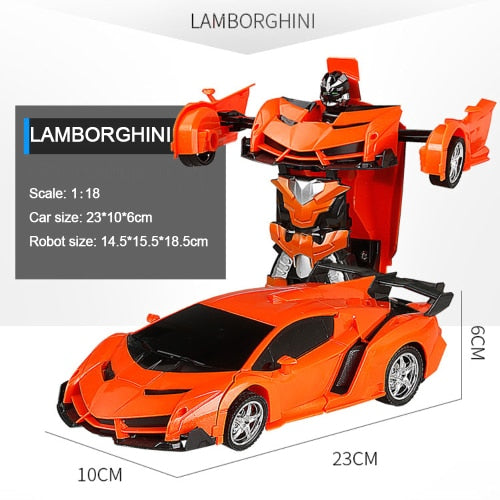 Car Transformation Robots Sports Vehicle Model Robots Toys Cool Deformation Car Kids Toys Gifts For Boys