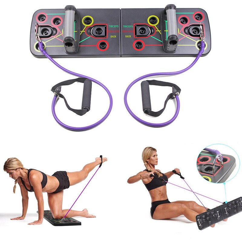9 in 1 Push Up Board with Multifunction Body Building Fitness Exercise Tools Men Women Push-up Stands For GYM Body Training-BUYALL20