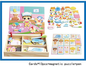 Magnetic Imagination Puzzle Toy Wooden Box- Preschool Education Toys-BUYALL20