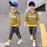Cotton Boys Outfits Suits Boys Clothing Set 4-13 Years Cotton Kids Hoodes + Pants Full Sleeve Children Sets Fashion Boys Clothes