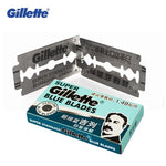 Gillette Super Blue Shaving Razor Blades For Men Stainless Steel double edge Shaver Blades (5 blades x 2 boxes)-BUYALL20