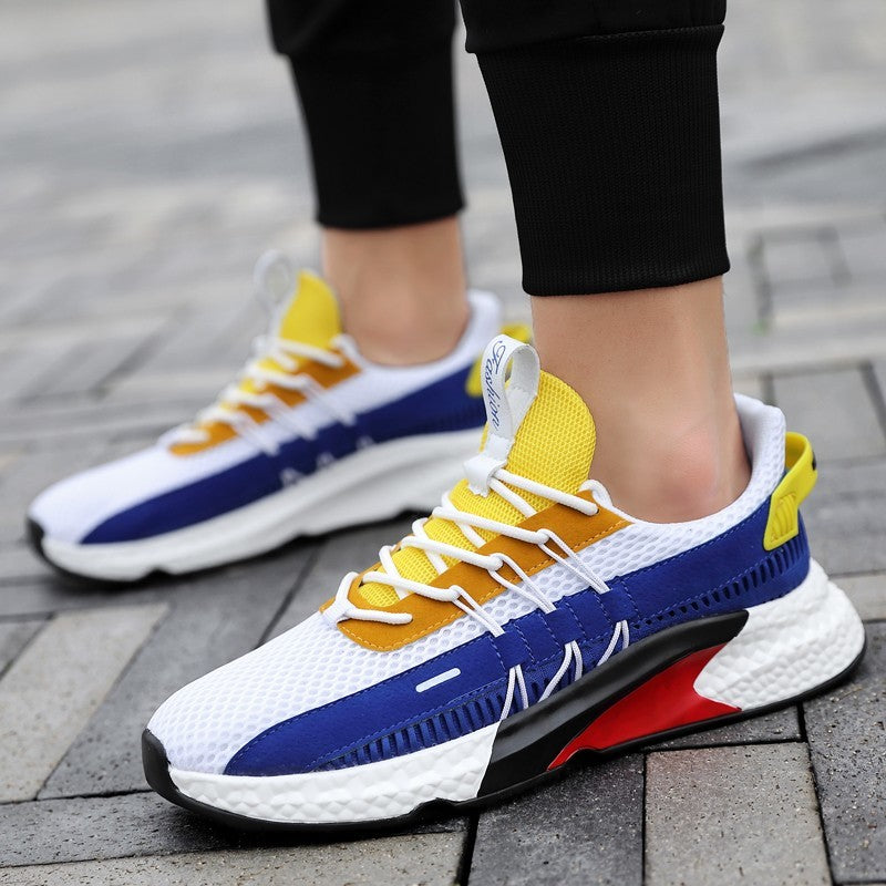 Sneakers Lightweight Comfortable Casual Shoes Zapatillas Hombre  Colorblock Canvas Shoes