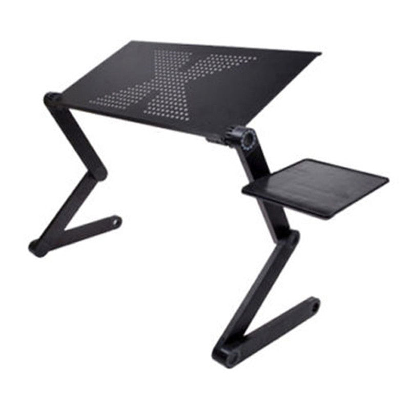 Portable foldable adjustable folding table for Laptop Desk Computer mesa para notebook Stand Tray For Sofa Bed Black-BUYALL20