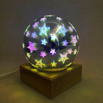 USB power supply 3D colorful crystal night light creative baby bedroom home decoration glass LED bedroom bedside table lamp-BUYALL20