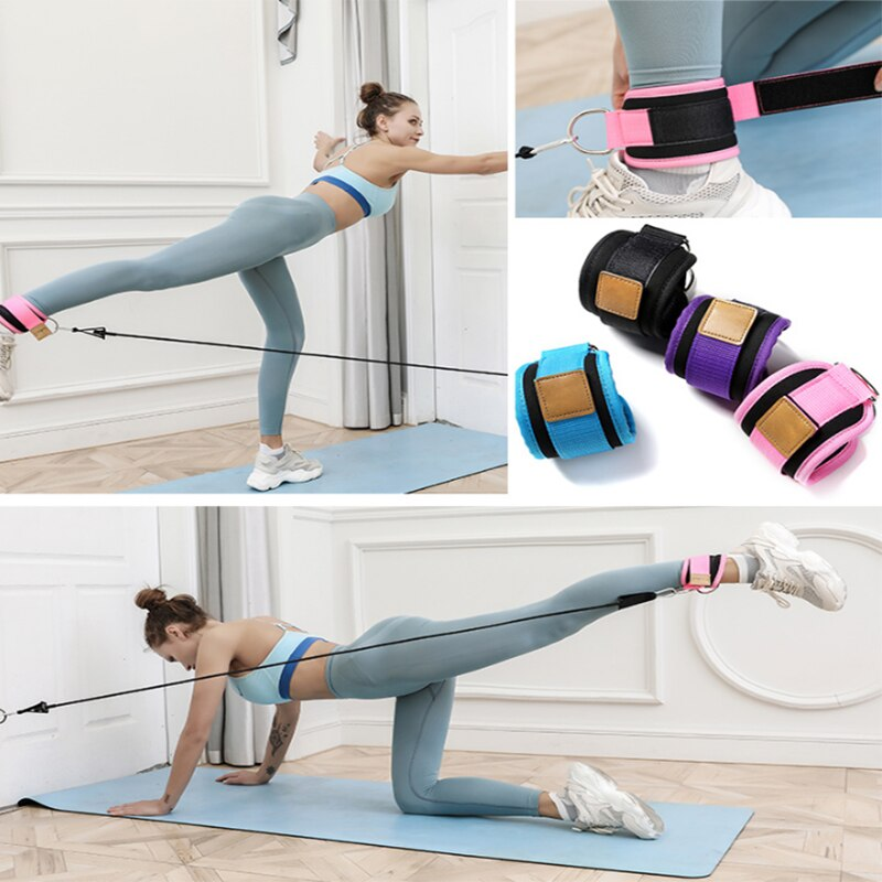 Resistance Bands with Ankle Straps Cuff with Cable for Attachment Booty Butt Thigh Leg Pulley Strap Lifting Fitness Exercise-BUYALL20
