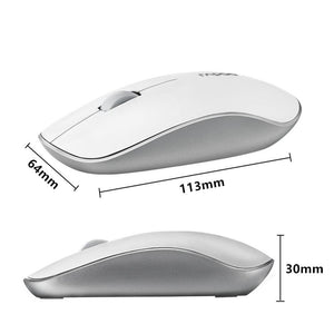 Rapoo Wireless Silent Gaming Optical Mouse with 1000DPI Super Slim Portable Mini Receiver For Laptop Computer Home-BUYALL20