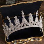 Luxury Tiaras And Crowns AAA CZ Zirconia Princess Pageant Engagement Wedding Hair Accessories Bridal Jewelry-BUYALL20