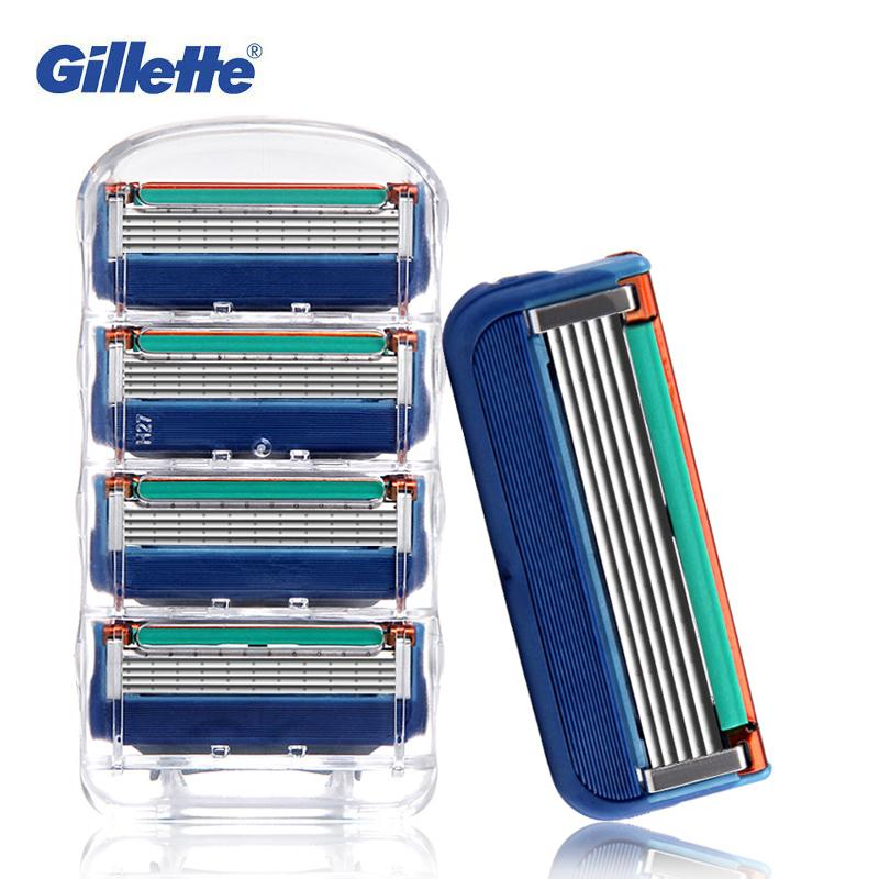 Gillette Fusion Shaving Razor Blades For Men Smooth Shaving To Shave Brand 4 Blades-BUYALL20