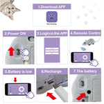 Fun Mice Pets Cat  Toy Toy kids toys Phone App Control Mouse Electronic Bluetooth Wireless Training Kitten Toy