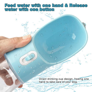 Pet Dog Water Bottle Portable Drinking water Feeder Bowl dog cat food feeding for Puppy dog cat Outdoor Walking Travel Supplies-BUYALL20