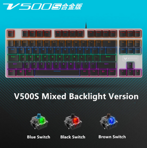 Rapoo V500 Alloy Version Mechanical Gaming Keyboard Teclado with USB Powered for Game Computer Desktop Laptop Black/Brown/Blue-BUYALL20
