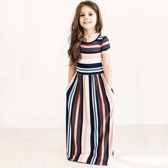 Maxi Girls Summer Dresses Elegant Kids Clothes Unicorn Dress Infantil Autumn 2018 Baby Girls Dress Long Bohemian Vestidos Menina