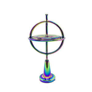 Creative Scientific Educational Metal Finger Gyroscope Gyro Top Pressure Relieve Classic Toy Traditional Learning Toy For Kids-BUYALL20