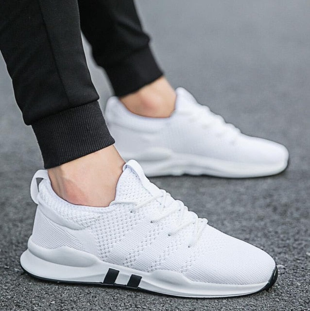 Men's Shoes Lightweight Sports Shoes Breathable Non-slip Casual Shoes Adult Shoes Zapatillas Hombre Black