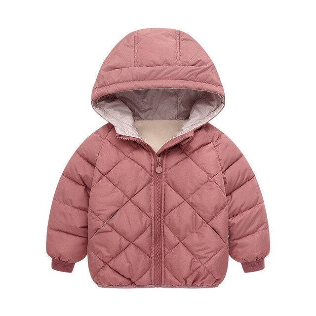Girls Winter Coats Jackets  Autumn Boys Hooded Jackets Long Sleeve Diamond Toddler Boys Jacket Kids Children Parka Outerwear