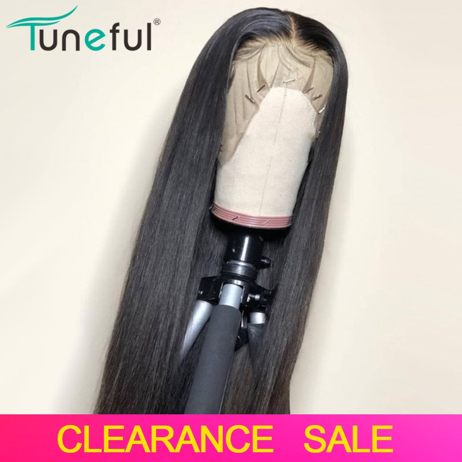 Lace Front Human Hair Wigs Straight Pre Plucked Hairline Baby Hair 8-26 Inch 13x4 150% Malaysian Remy Human Hair Lace Front Wigs