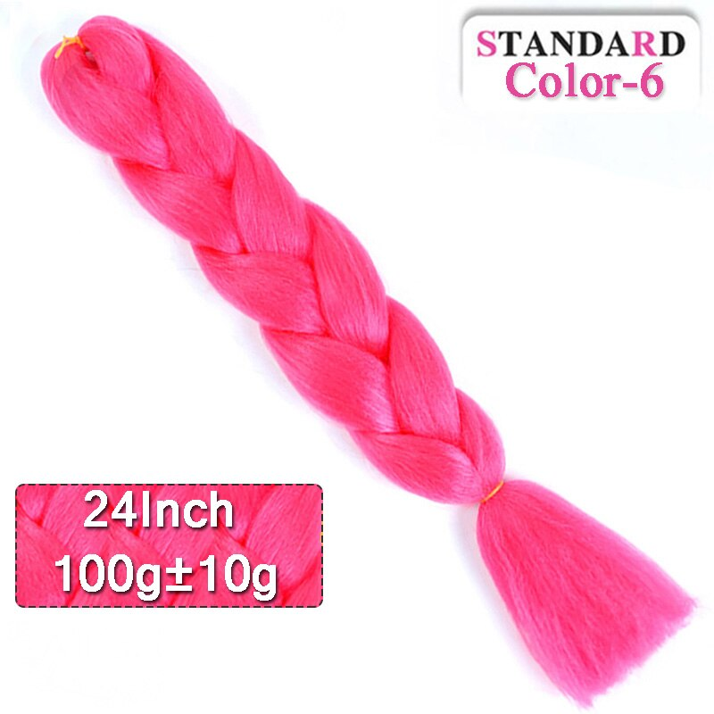 LUPU 24inch Long Synthetic Crochet Jumbo Braid Ombre Pink Purple Blue Blonde Kanekalon Braiding Hair Extension