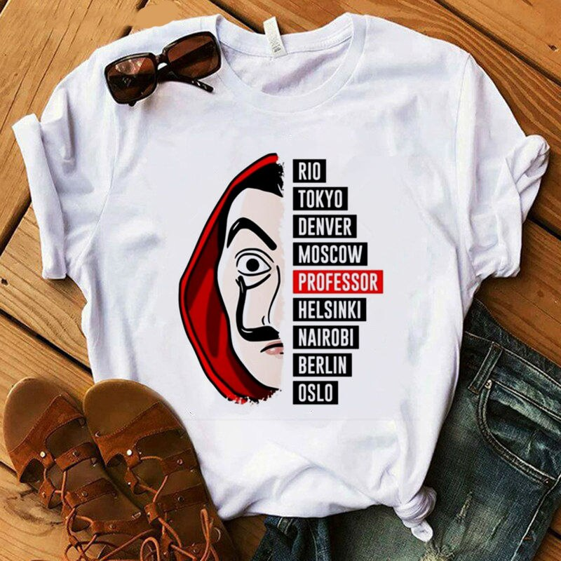 T-shirt House Paper t-shirt Women vogue casual t-shirt female summer Women 2020