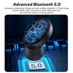 Wireless Bluetooth Earphone with Microphone Sports Waterproof Wireless Headphones Headsets Touch Control Music Earbuds For Phone