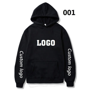 DropShipping Custom Logo Hoodies Women Men DIY Logo Text Photo Pullover Sweatshirt With Pocket Moletom Hop Hip Streetwear
