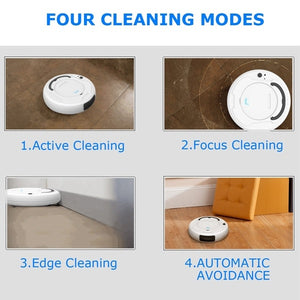 1800Pa Robot Vacuum Cleaner Multifunctional Smart Floor Sweeper , 3-In-1 Auto Rechargeable Dry Wet Sweeping Cleaner for Home