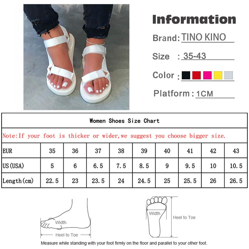 Summer Ladies Hook Loop Soft Sandals Woman Slip On Flat Platform Fashion Shoes Ladies Outdoor Casual Beach Slippers Plus Size