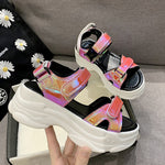 Sexy Open-toed Women Sport Sandals Wedge Hollow Out Women Sandals Outdoor Cool Platform Shoes Women Beach Summer Shoes 2020 New
